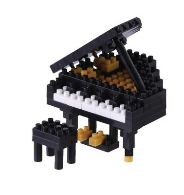 Nanoblock Mini, Grand Piano, Black   -