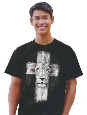 Lion Cross Shirt, Black, Medium  -