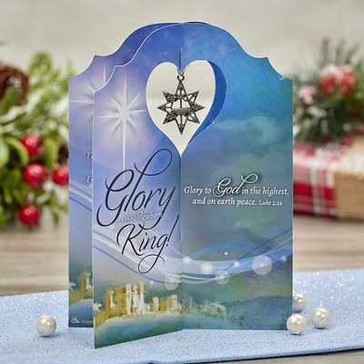 Glory To the Newborn King Card with Mini Ornament  -