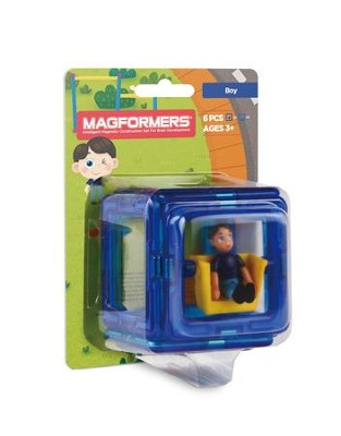 Magformers Figure Plus, Boy, 6 Piece Set  -