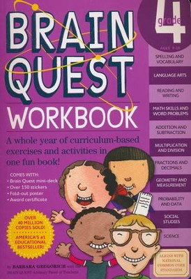 Brain Quest Workbook, Grade 4  -     By: Barbara Gregorich