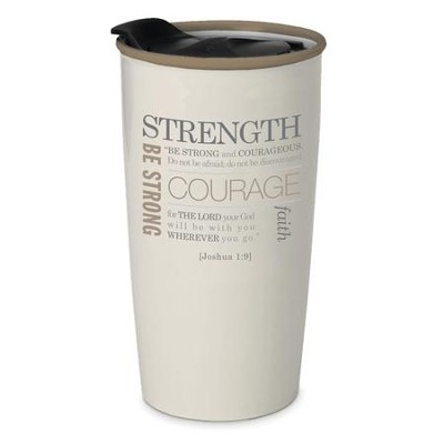 Strength Tumbler Mug, Cream  -
