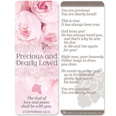 Precious and Dearly Loved Jumbo Bookmark  -