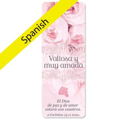 Precious and Dearly Loved Jumbo Bookmark, Spanish  -
