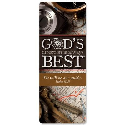God's Direction is Always Best Jumbo Bookmark  -