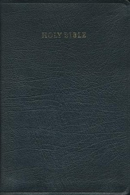 KJV Large Print Text Bible, French Moroccan leather, Black   -