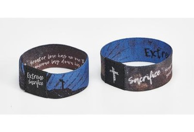 Extreme Sacrifice Reversible 2 Sided Elastic Fabric Bracelet  -