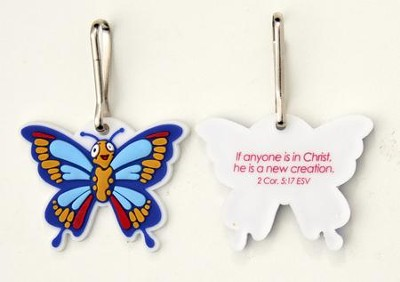 Butterfly Backpack Tag & Lanyard Clip  -