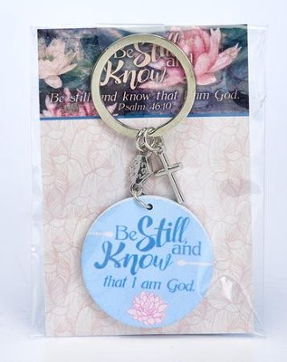 Be Still and Know Keychain  -