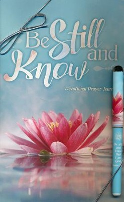 Be Still and Know Prayer Journal and Pen Gift Set  -