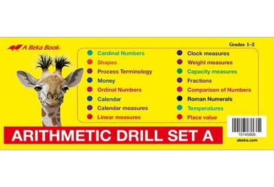 Arithmetic Drill Set A Flashcards   -