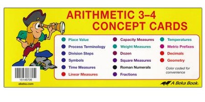 Arithmetic 3-4 Concept Cards   -