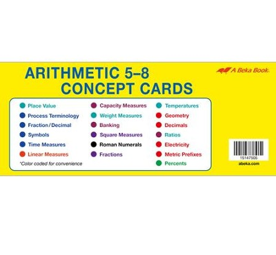 Arithmetic 5-8 Concept Cards   -