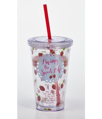 Living the Sweet Life Insulated Tumbler & Straw  -