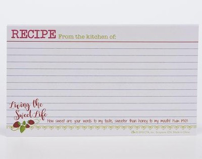 Living the Sweet Life Recipe Cards, Set of 12  -