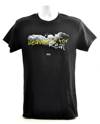 Heaven Is For Real, Shirt, Black, Small  -