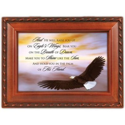 And He Will Raise You Up on Eagles Wings Music Box  -