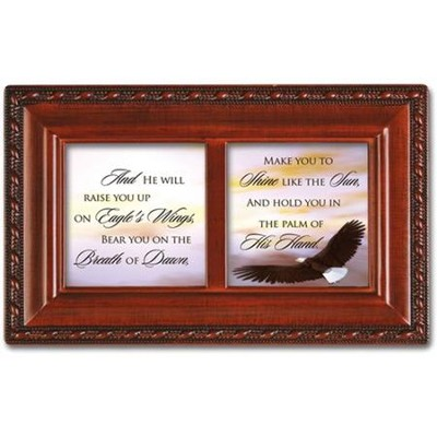 And He Will Raise You Up on Eagles Wings Petite Music Box  -