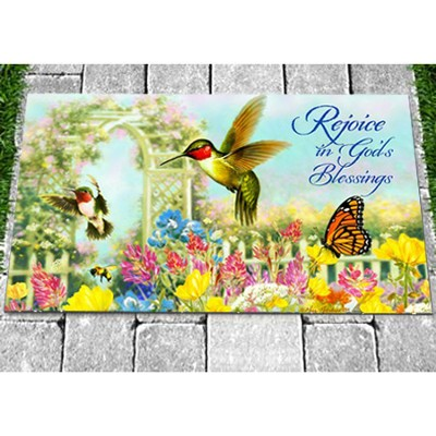Rejoice In God's Blessings Door Mat  -