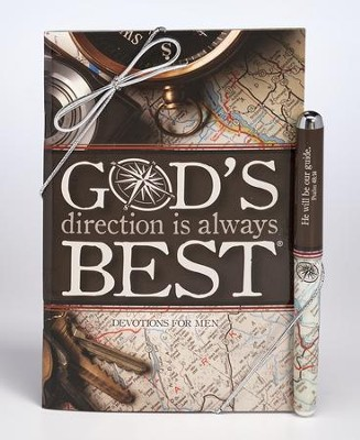 God's Direction is Always Best Devotion Book and Pen Set  -