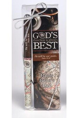 God's Direction is Always Best, Dad, Bookmark and Pen Set  -