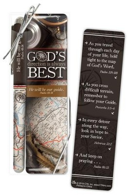 God's Direction is Always Best Bookmark and Pen Set  -