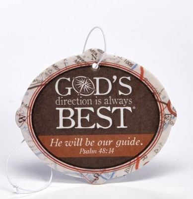 God's Direction is Always Best Car Air Freshener  -