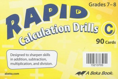 Abeka Rapid Calculation Drills C (7-8)   -