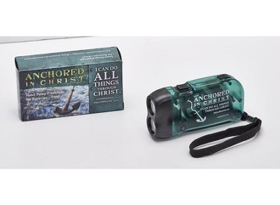 Anchored in Christ LED Pump Flashlight  -