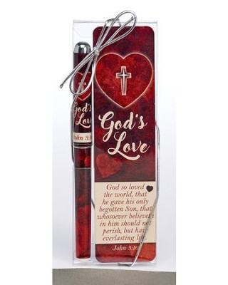 God's Love Pen and Bookmark Gift Set  -
