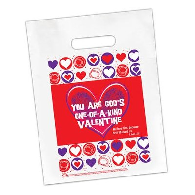 You Are God's One-of-a-Kind Valentine Goodie Bag, Pack of 12  -