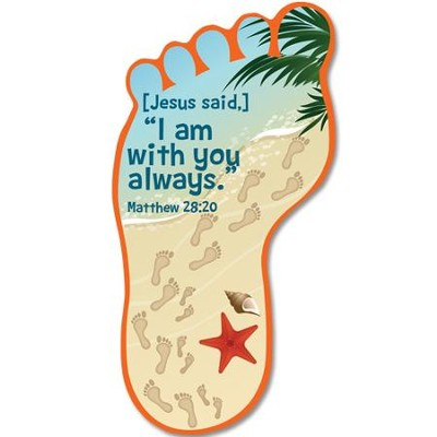 I Am With You Always Footprint Bookmark  -