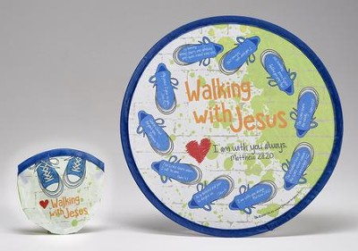 Walking with Jesus Nylon Flying Disc & Pouch  -