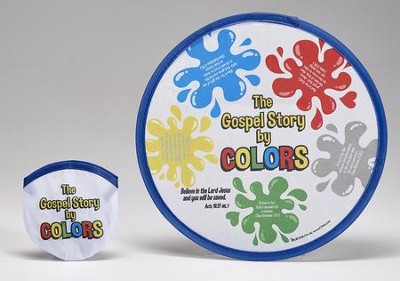 The Gospel Story By Colors Nylon Flying Disc with Pouch  -