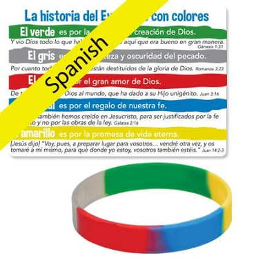 The Gospel Story By Colors Silicone Bracelet, Spanish  -
