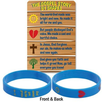 The Gospel Story By Shapes Silicone Bracelet & Card  -