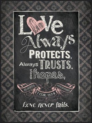 Chalkboard Wall Art love always protects, chalkboard wall art - christianbook