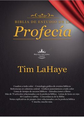 Biblia de estudio de la profec&#237a Negro, RVR 1960 (The Prophecy Bible, Imitation Leather, Black Indexed)  -     By: Tim LaHaye
