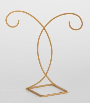Decorative Gold Ornament Stand, Hanging Height 7inches                -