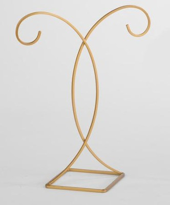 Decorative Gold Ornament Stand, Hanging Height 9.5 inches                    -