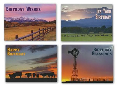 Home on the Range Birthday Cards, Box of 12  -