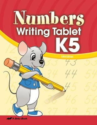 Abeka Numbers Writing Tablet K5   -