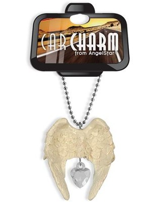 Guardian Angel Car Charm, Ivory and Crystal  -