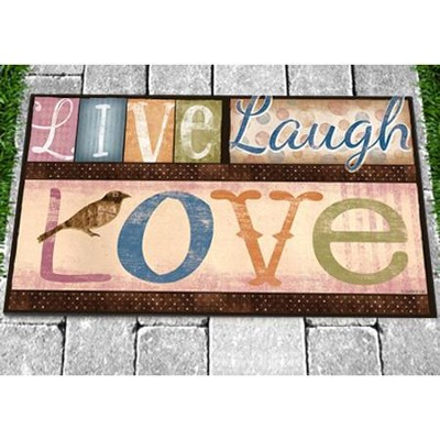 Live Laugh Love Door Mat  -