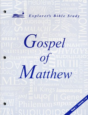 Matthew, Book 1 (Lessons 1-10)   -