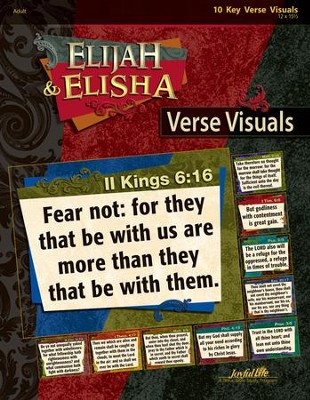 Elijah & Elisha Adult Bible Study Teaching Posters   -
