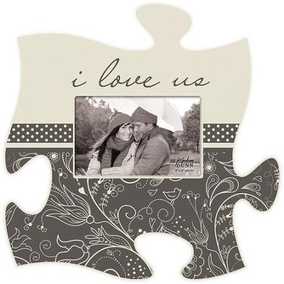 I Love Us, Puzzle Piece Photo Frame  -