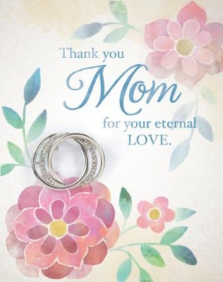 Thank You Mom, Greeting Card with Circle Pin  -
