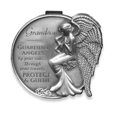 Guardian Angel Visor Clip, Grandson  -