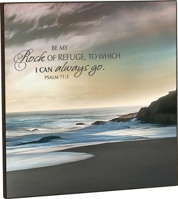 Be My Rock Of Refuge, Mounted Wall Art 24 Square   -